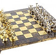 "Шахматы ""Греческая мифология"" 36x36x2.5;H=6.5 см. арт.MP-S-5-36-BRO фото"