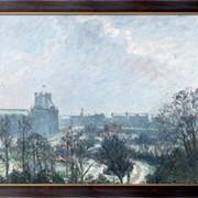 Картина Сад Тюильри и павильон де Флор, снег, 1899, Писсарро, Камиль фото