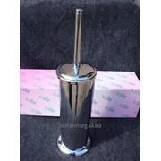 Ёрш для чистки унитаза,в стакане,металл,хром. фото