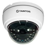 TSi-Ve25VPA (2.8-12) 2 мегапиксельная купольная уличная антивандальная IP камера с питанием PoE фото