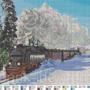 """Схема для вышивки """"Поезд"""" фото"""