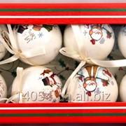 Набор небьющихся новогодних ёлочных шаров 420049 фото