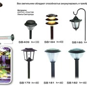 Светильники на солнечных батареях фото