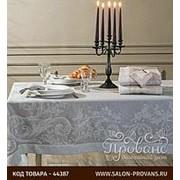 Скатерть прямоугольная Tivolyo Home ATHENA жаккард серый 160х260 фото