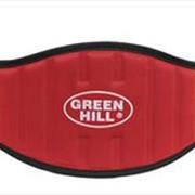 Пояс тяжелоатлетический Green Hill красный S WLB-6732В фото