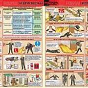 """Плакат """"Пожарная безопасность"""" - к-т из 2 л. фото"""
