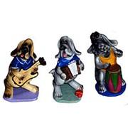 Сувенир Собака музыкант фото