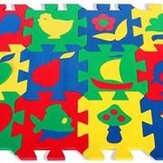 Развивающий коврик Бомик с силуэтами 12 шт. 408 фото
