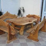 Комплект садовой мебели Водяной: стол и ч сетыре скамьи фото