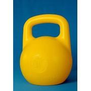 Гиря пластиковая с наполнителем 10кг желтая фото