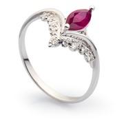 Золотое кольцо с рубинами и бриллиантами фото