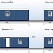 Блок-контейнер типа бытовка 9х2,5х3 м фото