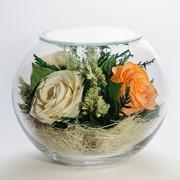 Роза в стекле tm FIORA BS-Rwo-34459 фото