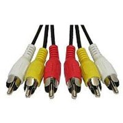 Аудио-видео кабель 3RCA тюльпан штекер-штекер - 1.5 метра фото