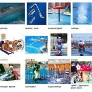 Фонтаны, водопады для бассейнов. Водные аттракционы. фото