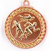 Медаль рельефная легкая атлетика - бронза фото