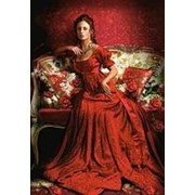 Пазл Castorland 1500 деталей, Девушка в красном, средний размер элементов 1,6?1,4 см фото