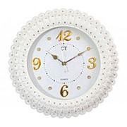 Часы настенные белые СТ0062 44х44х4см фото