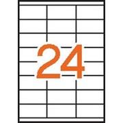 Этикетки универсальные StickWell , прямоугольные, белые, 70*33,8 мм, 2400 шт. фото