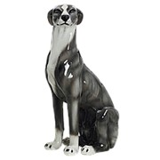 Скульптура Серая борзая/ Собака арт.CB-405-G Boxer фото