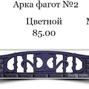 Еврозабор Арка фагот №2 Цветной фото