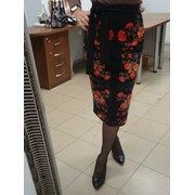 Юбка-карандаш, юбка трикотажная, узкая юбка. фото