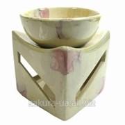 Аромолампа Формы / Чаша на Кубе / Мрамор / h=10см s02268-01 фото