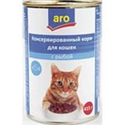 Корм для кошек ARO с Рыбой, 415г фото