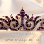 Паеточный кружевной декор. Фиолетовый. Размер 24х8см. (1шт) фото