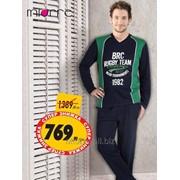 Пижама мужская с длинным рукавом с v-образным вырезом Miorre 353-000007 фото