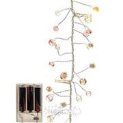 "Электрогирлянда ""Пастельные Мечты"", 150 см, 16 теплых белых LED ламп, прозрачный провод, батарейка (Kaemingk) фото"