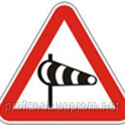 Дорожные знаки Предупреждающие знаки Боковой ветер 1.17 фото