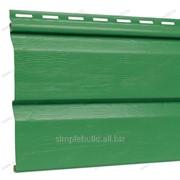 Сайдинг виниловый «FineBer», зелёный фото