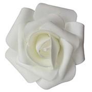 Декор свадебный Роза белая 12см 1шт фото