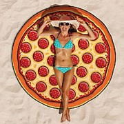 Пляжное покрывало Пицца фото