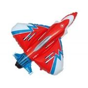 Шар фольгированный Ф Фигура 11 Истребитель красный FM фото