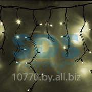 """Гирлянда Айсикл (бахрома) светодиодный, 5,6х0,9м, черный провод """"КАУЧУК"""", 220В, диоды тепло-белые, NEON-NIGHT фото"""