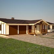 Жилой дом индивидуальный из сендвич-панели фото