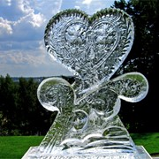 Декорирование ледовых скульптур фото