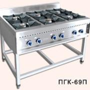 Плита газовая кухонная шестигорелочная ПГК-69П фото