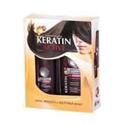 Подарочный набор (шампунь + сыворотка с кератином), линия Keratin Active фото