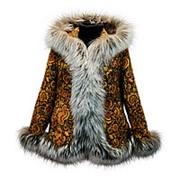 Куртка с мехом в русском стиле фото