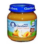 Пюре Gerber 130г яблоко, персик с 4мес фото