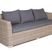 Плетеный диван Капучино Д3 фото