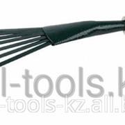 Грабельки Grinda веерные с плоскими зубцами, из углеродистой стали с деревянной ручкой, 390 мм Код: 8-421253_z01 фото