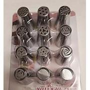 Кондитерские насадки для торта - набор 12 шт фото