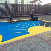 Строительство детских и спортивных площадок, монтаж резиновых травмобезопасных покрытий. фото