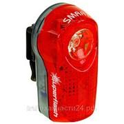 Фонарь велосипедный задний SMART 3 диода видимость до 1 км, 2 функции фото