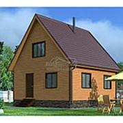 Дом из бруса 6.0 х 6.0 м (Проект Д-055-1 Сезонный) фото