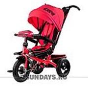 Трехколесный велосипед City H5 красный с надувными колесами 12-10 фото